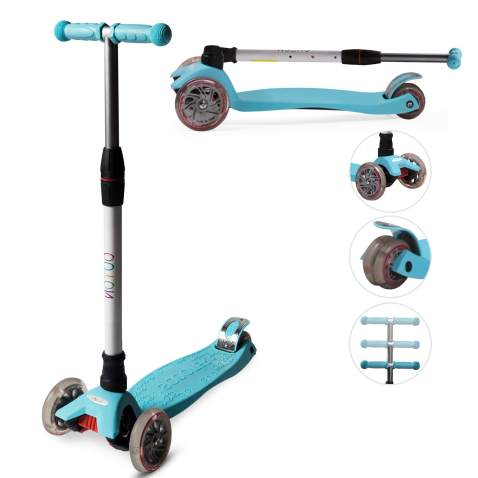 Scooter Childrens scooter with 3 LED Wheels and Seat Height Adjustable