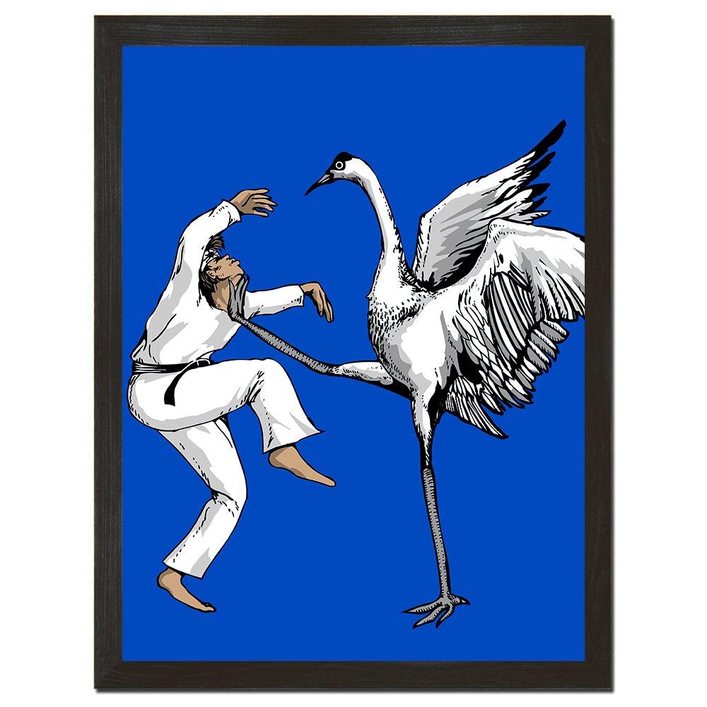 Sharp Shirter Funny Karate Print Hilarious Movie Poster Humorous Wall Art Mancave Decor Crane Poster Blue 8x10 Inches