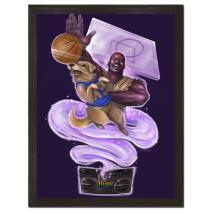Sharp Shirter 90s Wall Art Funny Basketball Print Hilarious Movie Poster College Decor Shaq Dog Purple 8x10