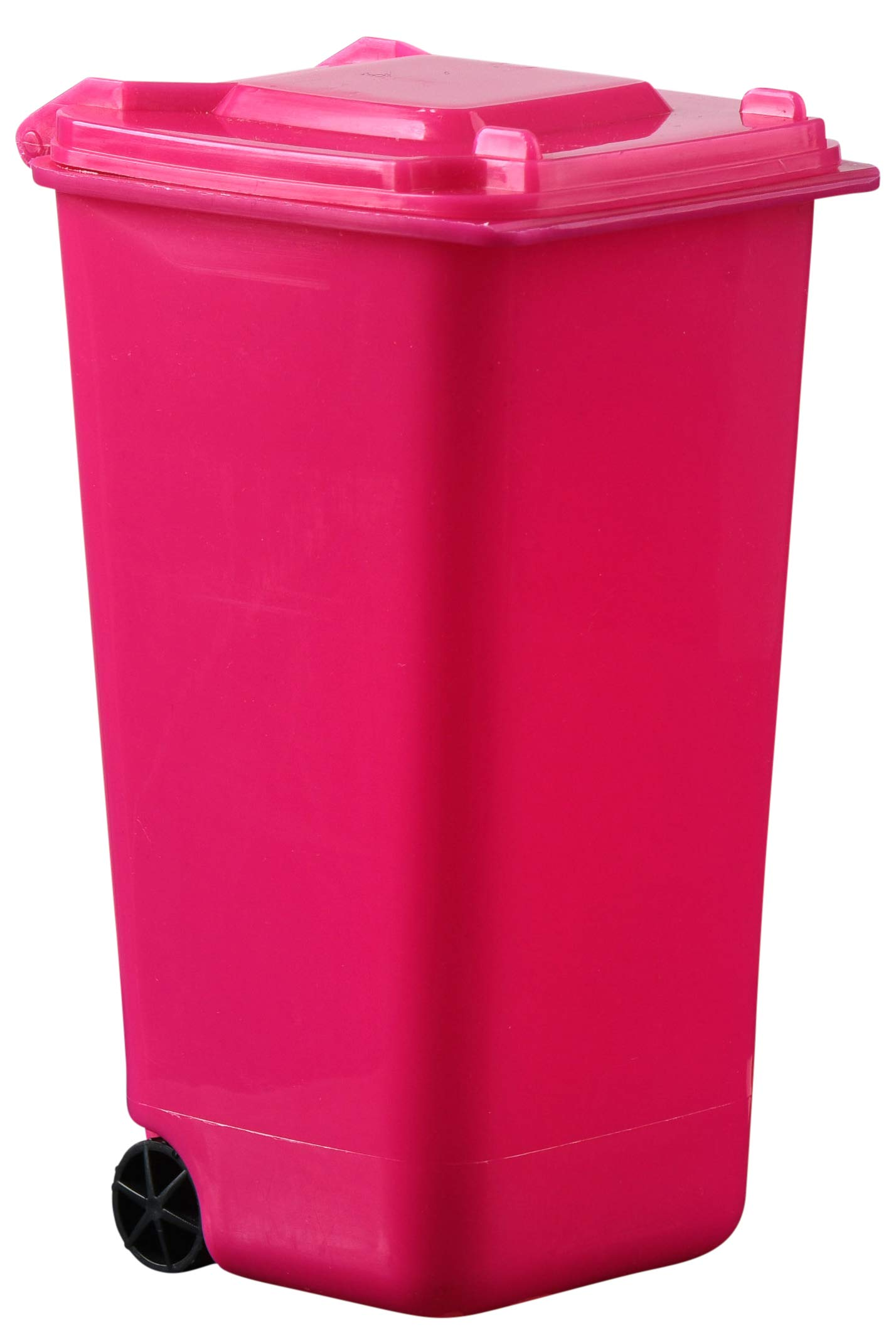 Plastic Toy Garbage Cans Playset - Used for Pencil Holder, Desktop Organizer, Fun Playing, Novelty and Party Favors Red 6 x 3 X 6 (6 Pack) (Pink)