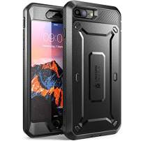 SUPCASE Unicorn Beetle Pro Series Phone Case Designed for iPhone 8 Plus, with Built-In Screen Protector Full-body Rugged Holster Case for Apple iPhone 7 Plus 2016 / iPhone 8 Plus 2017 Release (Black)