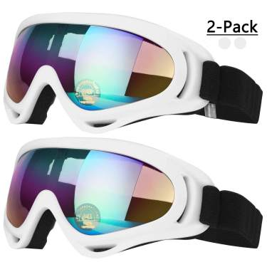 Black//Tawny+Yellow Snowboard Gogglesfor Men Girl Kids Goggle Winter Skiing Outdoor Sport Goggles Adjustable for Ski Goggles Compatible with UV 400 Protection Wind Resistance Anti-Glare Lenses 2 Pack