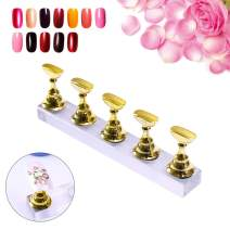 Kalolary Nail Stand Holder Set, Strong Magnetic Nail Holders Acrylic Base Professional Nail Art DIY Tools for Art Salon DIY and Practice Manicure