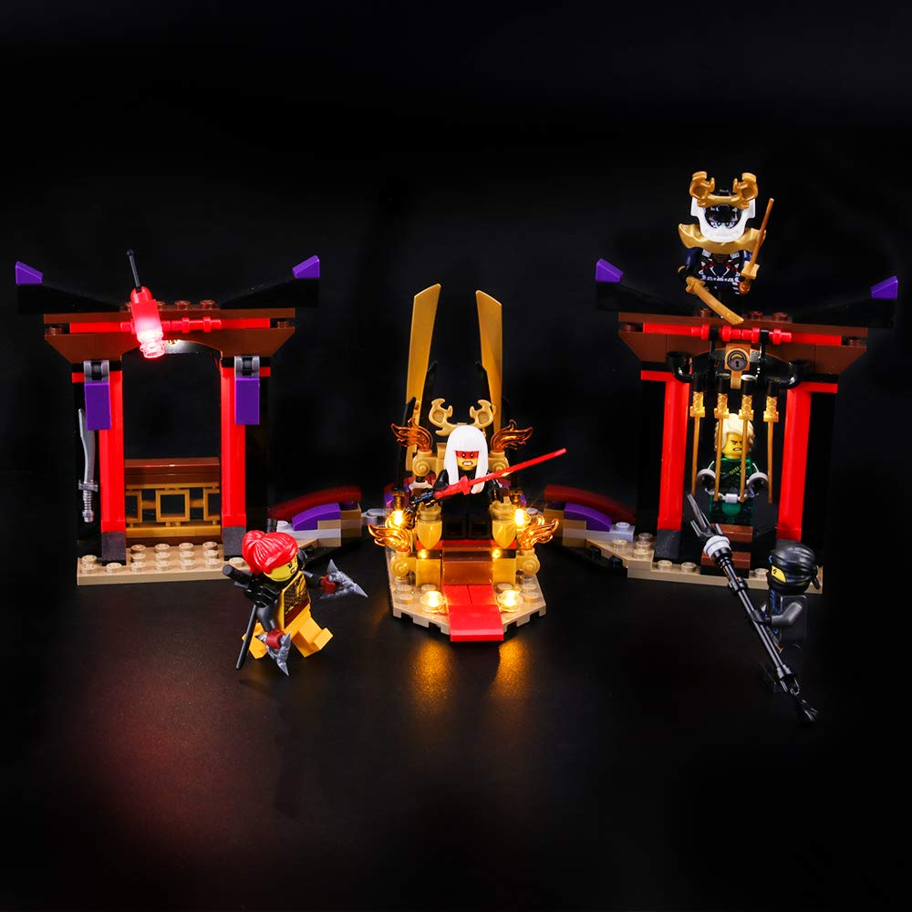 BRIKSMAX Led Lighting Kit for Throne Room Showdown - Compatible with Lego Ninjago 70651 Building Blocks Model- Not Include The Lego Set