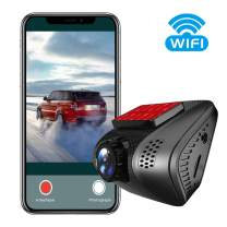 VSYSTO Car Mini Dash cam 4K DVR Dashboard Recorder Camera WiFi for Vehicles with G-Sensor Loop Recording Lens 6 Glass Night Vision