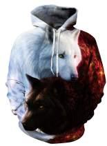 Ainuno Men Women Unisex Hoodie 3D Printed Hooded Sweatshirt Pullover Graphic