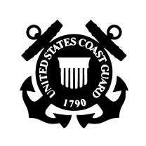 Coast Guard Shield Black Decal United States Military Sticker