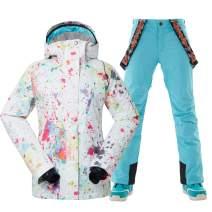 GSOU SNOW Women High-Tech Ski Jacket and Pants Snowboard US Standard Jacket Coat