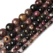 Love Beads Natural Colorful Tourmaline Round Gemstone 6mm Beads for Jewelry Making 15inches Stone Beads