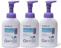 Organic Hand Soap by MADE OF - Dermatologist and Pediatrician Tested - NSF Organic and EWG Verified - For Sensitive Skin and Eczema - Made in USA - 10oz (Fragrance Free, 3-Pack)