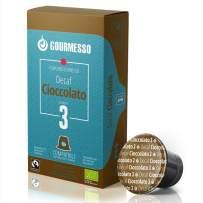 Gourmesso Decaf Chocolate - 100 Espresso Capsules Compatible with Nespresso Machines 100% Fairtrade Coffee and Organic