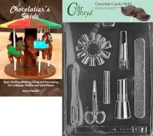 Cybrtrayd Manicure Kit Chocolate Candy Mold with Chocolatier's Guide Instructions Book Manual