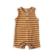 Ma.Lina.Ann Newborn Baby Boy Girl One Piece Sleeveless Jumpsuit Striped Romper V -Neck Onesies Summer Clothes