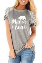 Auremore Womens Tops Cat Dog Mom Long Sleeve Shirt Crewneck Pullover Blouse Tee