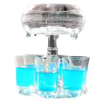 6 Shot Glass Dispenser and Holder, 6 Cocktail Dispensers and Holder, Transparent Bar Shot Dispenser with Silicone Plug for Bar Great Party Festival Gift