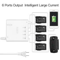 RCstyle Compatible with DJI Mavic Air 6 in 1 Rapid Parallel Battery Charger Smart Multi Battery Intelligent Charging Hub Charging Accessories