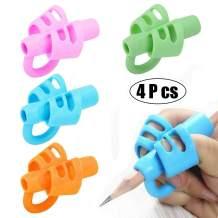 BUSHIBU Pencil Grips, Original Breakthrough Assorted Writing Training Posture Correction Finger Grip with Hollow Ventilation for Kids Preschoolers Children Handwriting(4PCS)