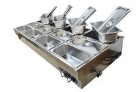 INTBUYING Food Warmers 12-Well Commercial Stainless Steel Bain-Marie Buffet Warmer