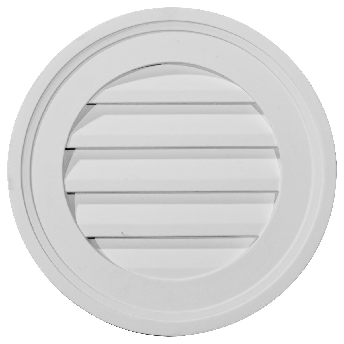 Ekena Millwork GVRO16F 16-Inch W x 16-Inch H x 1 1/2-Inch P Round Gable Vent Louver, Functional