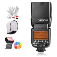 Godox Ving V860IIC 2.4G GN60 E-TTL HSS 1/8000s Li-on Battery Camera Flash Speedlite 1.5S Recycle Time 650 Ful Power Pops for Canon EOS Cameras