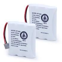 QBLPOWER BT905 BT-800 Cordless Phone Rechargeable Battery Compatible with Uniden BT-905 BT800 BT-1006 BBTY0663001 BP-800 BP-905 P-P501 P-P508 3.6v 600mAh Ni-CD (Pack of 2)