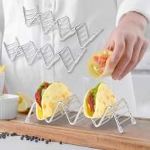 Kalevel Taco Stands Shell Holder Stainless Steel Taco Rack Truck 2 Pack Oven Dishwasher Safe for 3 or 4 Soft Hard Shells Each