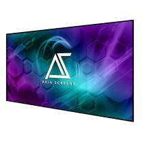 """Akia Screens 125 inch Edge Free Fixed Frame Projector Screen 125"""" Diagonal 16:9 8K 4K Ultra HD 3D Ready CINEWHITE UHD-B Black Projection Screen for Indoor Movie Video Home Theater AK-NB125H1"""