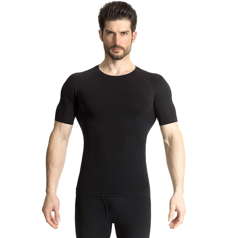+MD Men Compression Short Sleeve Sport Shirt Cool Dry Slim Base Layer T-Shirt Top
