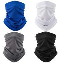 QING Neck Gaiter Face Covering Scarf Anti UV -Dust, Windproof Bandanas Sweat Wicking &Breathable Headbands