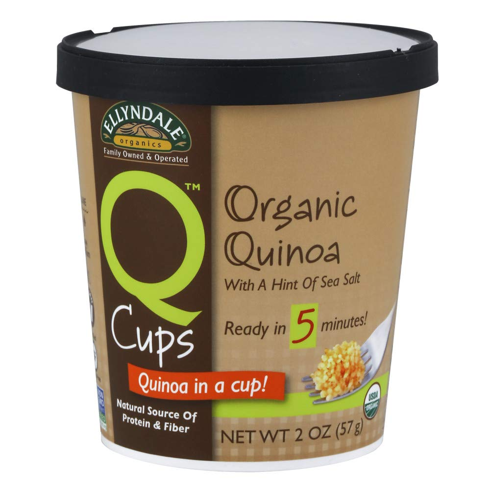 NOW Foods, Q Cups, Certified Organic Quinoa with a Hint of Sea Salt, 5 Minute Prep!, Source of Protein and Fiber,  6/2-Ounce Cups
