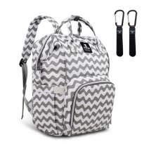 Hafmall Diaper Bag Backpack - Waterproof Multifunction Large Baby Travel Bag (Chevron)