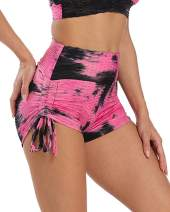 BBYES Womens Butt Lifting Yoga Shorts Tummy Control Leggings Running Gym Shorts