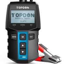 Car Battery Tester TOPDON BT100 12 Volt 100-2000CCA Battery Load Tester, Cranking and Charging System Battery Analyzer, Automotive Alternator Tester for Car Motorcycle Marine Truck