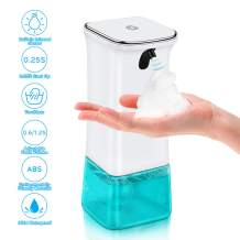 Automatic Foaming Soap Dispenser Touchless,VEEAPE 9.5oz/280ml Battery Operated Electric Simple Human Motion Sensor Pump,Dishwashing Liquid Soap Dispensing for Kitchen Bathroom,Adjustable Volume Contro