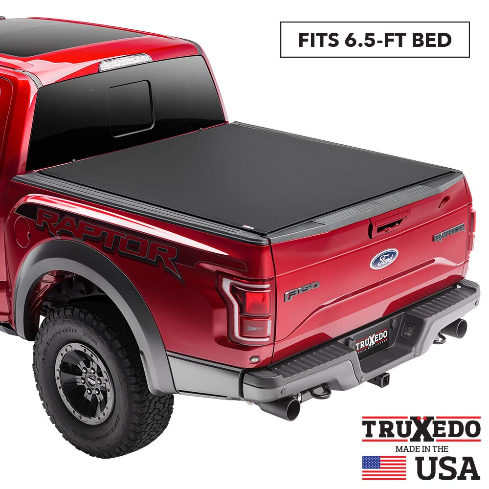 "TruXedo Pro X15 Soft Roll Up Truck Bed Tonneau Cover | 1445701 | fits 2007-20 Toyota Tundra  6'6"" bed"