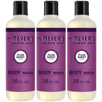 Mrs. Meyer's Clean Day Body Wash, Plum Berry Scent, 16 Ounce Bottle (Pack of 3)