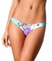 THE MESH KING Coqueta Sweet Heart Brazilian Bikini Bottom Hipster Swimsuit BLUERAY