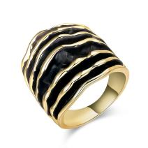 dnswez Two Tone Fashion Rings Gold Chuncky Rings Big Wide Statement Rings for Women
