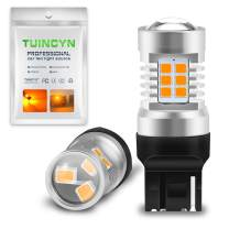 TUINCYN 7440 7440NA 7441 992 T20 LED Turn Signals Light Bulbs Amber Yellow 21SMD LED Blinkers Brake Light Back Up Reverse Light Parking Light Daytime Running Light/DRL Tail Light(Pack of 2)