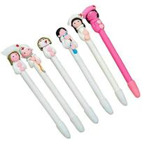 WIN-MARKET Lovely Soft Ceramic Creative Character Doctor Nurse Polymer Pen Office School Supply Stationery (6PCS)