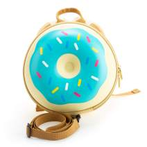 Kiddietotes Donut Backpack for Toddlers, and Children - Perfect for Daycare, Playtime, and Elementary School - Cotton Candy Blue
