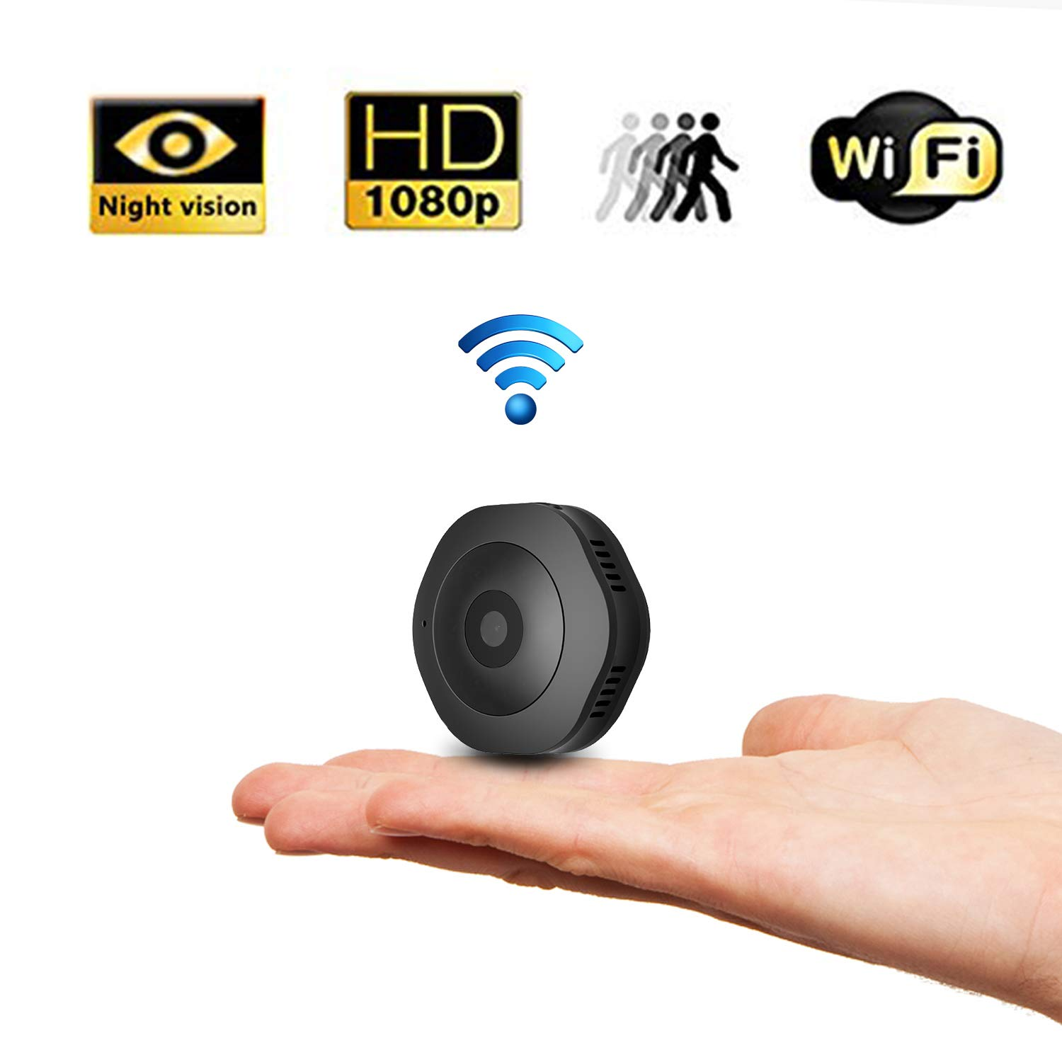 Mini Hidden Camera Camera, Security Camera for Baby Pet Monitor Wireless HD 1080P Indoor Home Small Cam Security Cameras with Night Vision for Smart Phones