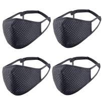 AntNest Adjustable Sports Black Face Mask for Men and Women Reusable, Washable, Breathable, Cotton Mask for Running Gym Exercise Workout Masks(Black)
