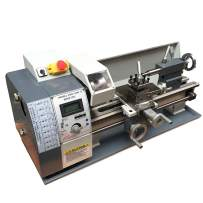 "Techtongda Precision Inch Thread Metal Lathe Brushless Motor Bench Turning Machine 110V (8""x16"" WM210V)"