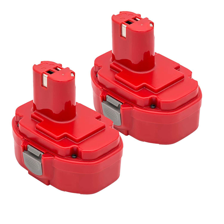 2Pack 2000mAh 18V NI-CD Replacement Battery Compatible with Makita 1822 1823 1834 1835 192826-5 192827-3 192829-9 193159-1 193140-2 193102-0 194105-7
