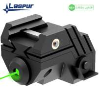 Laspur USA Mini Sub Compact Tactical Rail Mount Low Profile Laser Sight with Build-in Rechargeable Battery for Pistol Rifle Handgun Gun