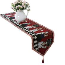 """Cheerful Chef Table Runner with Decorative Fringe - Farmhouse Cotton Linen Table Runner for Family Dinners or Gatherings, Indoor or Outdoor Parties & Everyday Use - 13""""x71"""""""