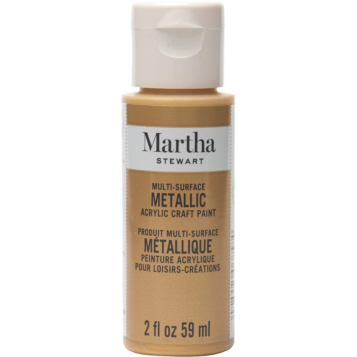 Martha Stewart Crafts Martha Stewart Multi-Surface Metallic Craft Pale Bronze, 2 oz Paint