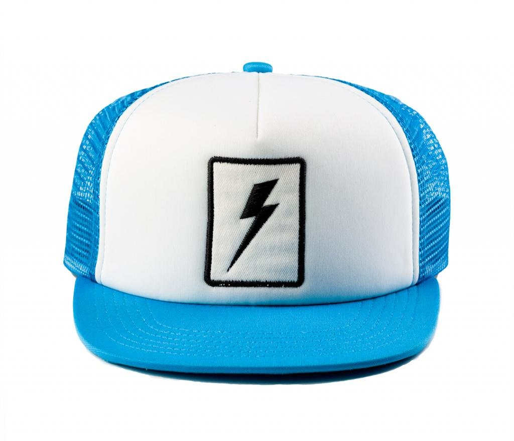 Born to Love Baby Boy Infant Trucker Sun Hat Toddler Baseball Cap White and Blue Lightning Hat M 53 cm 2 to 5 Years