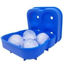 HUJI Sphere Ice Ball Maker – Food Grade Silicone - Blue 1PK